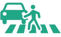 pedestrian accident icon - personal injury law