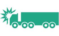 semi truck accident icon