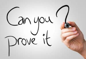 can you prove it - personal injury case