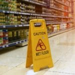 caution wet floor sign - slip and fall accidents