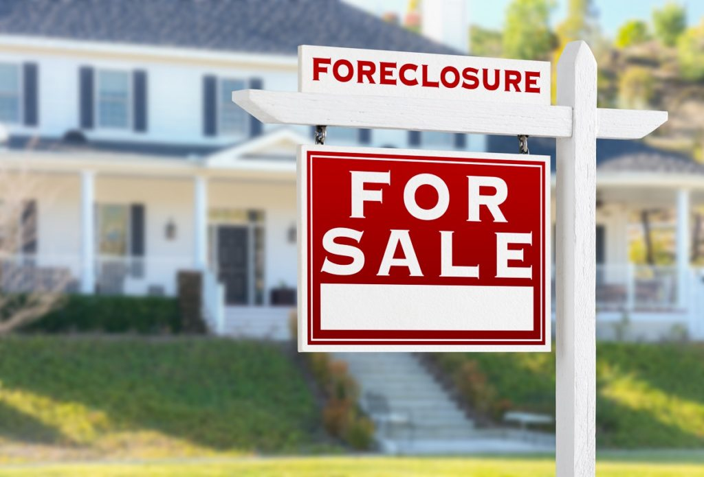 Foreclosure For Sale Sign - Buying a Foreclosed Property